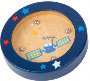 Small Foot mini-labyrinth Space hout junior 7,5 cm donkerblauw