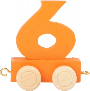 Small Foot Zug trolley nummer 6 orange