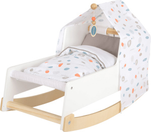 Small Foot poppenwieg Little Button junior 54x28 cm hout wit