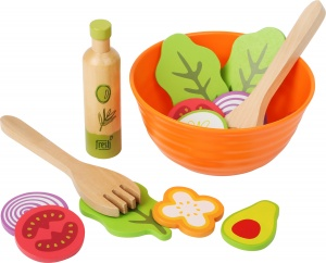 Small Foot toy food Salad wood junior 15-piece