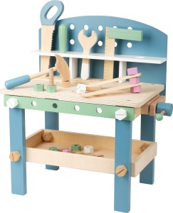 Small Foot Nordic Compactwood workbench 49 cm bright/blue/green