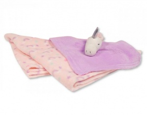 Snuggle Baby baby blanket with unicorn cuddly blanket pink/lilac set 2-piece