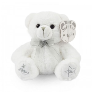 Soft Touch knuffelbeer Little Star 18 cm wit
