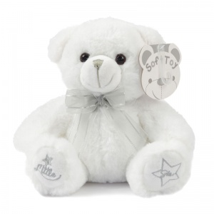 Soft Touch knuffelbeer Little Star 25 cm wit