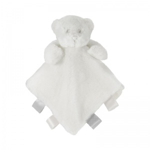 Soft Touch cuddly blanket bear with labels 38 cm white