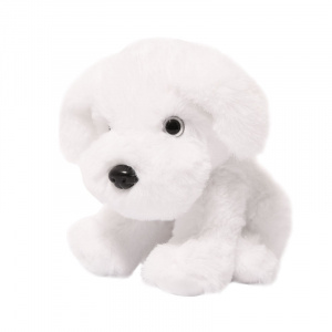 Soft Touch knuffel hond junior 15 cm polyester wit