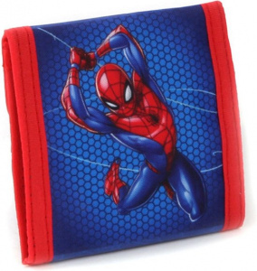 Marvel brieftasche Spiderman 10 x 10 cm Polyester blau/rot