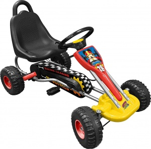 Stamp go-kart Mickey Racers black / red / yellow 89 x 78 x 52 cm