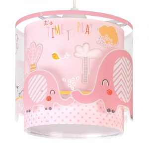 Starbright hanglamp Olifant junior 65 x 33 cm wit/roze