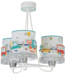 Starbright hanglamp Verkeer junior 65 x 33 cm wit/multicolor