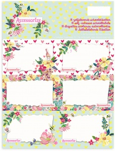 Stationery Team Labels Accessorize Sweet 18 pcs