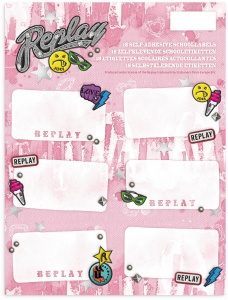 Stationery Team Labels Replay 18 pieces
