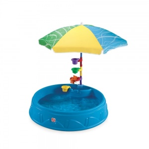 Step2 children's pool Play & Shade 95 x 19 cm blue