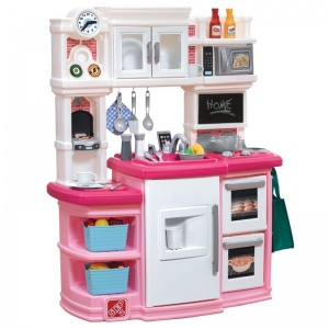 Step2 speelkeuken Great Gourmet 116 cm wit/roze 30-delig