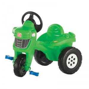 Step2 stair tractor 3 wheels green