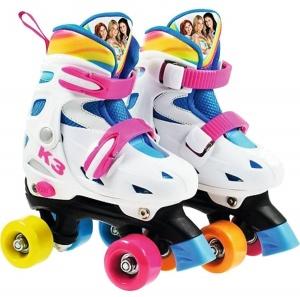 55b466067c5 Studio 100 rolschaatsen K3 verstelbaar meisjes wit mt 27-30