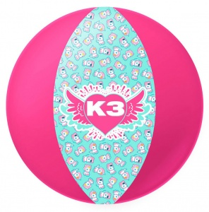 Studio 100 beach ball K3girls 33 cm pink/turquoise
