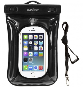 Summit waterproof smartphone protection cover black 20 x 13 cm
