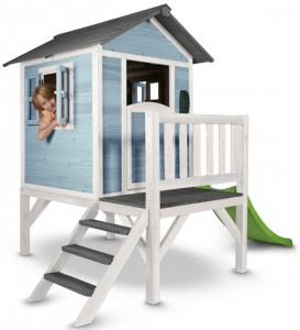 Sunny Lodge XL playhouse blue/white 190 x 260 x 167 cm