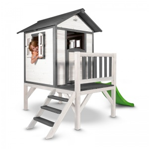 Sunny Lodge XL playhouse grey/white 190 x 260 x 167 cm