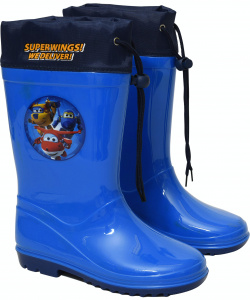 Super Wings regenstiefel Junior PVC blau
