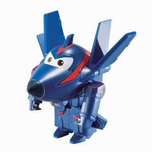 Super Wings transform-a-Bots mini speelfiguur agent Chace