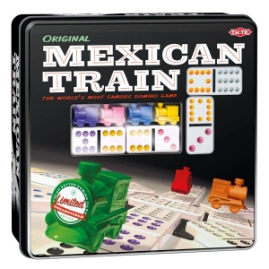 Tactic Domino Spiel Mexican Train Tin Box