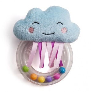 Taf Toys rammelaar Mini Cloud junior 13 cm lichtblauw