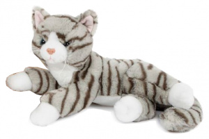 Take Me Home knuffel Poes junior 36 cm pluche grijs