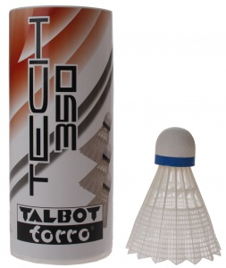 Talbot Torro shuttlecocks Tech 350 white / blue 3 pieces