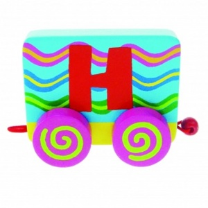 Tatiri Wood Letter: H Alphabet Train