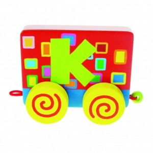 Tatiri Wood Letter: K Alphabet Train