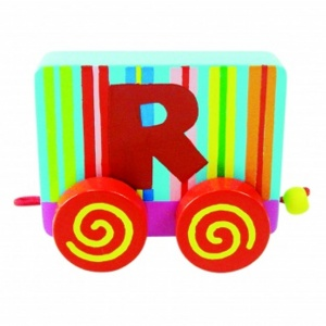 Tatiri Wood Letter: R Alphabet Train