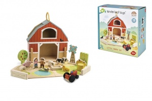 Tender Toys portable farm play set junior 18-piece