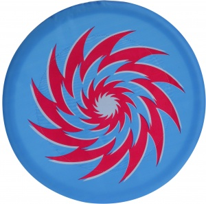 Free and Easy frisbee foam 30 cm blauw/rood