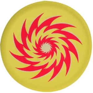Free and Easy frisbee foam 30 cm geel/rood