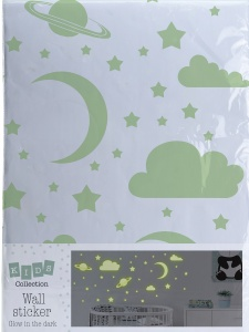Tender Toys glow in the dark muurstickers sterren vel 70 x 50 cm