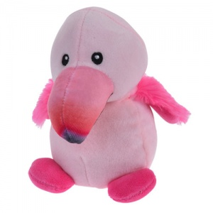 Tender Toys cuddly toy flamingo 14 cm pink