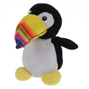 Tender Toys cuddly toy toucan 14 cm black