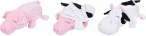Tender Toys cuddly cushion reversible pig/cow 45cm