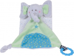 Tender Toys knuffelolifant groen 22 cm