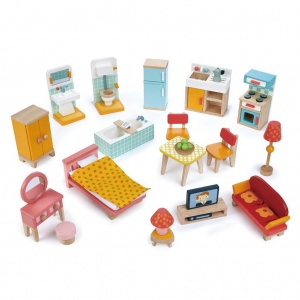 Tender Toys furniture set doll's house men 29-piece