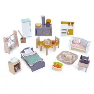 Tender Toys furniture set doll's house rural 35-piece