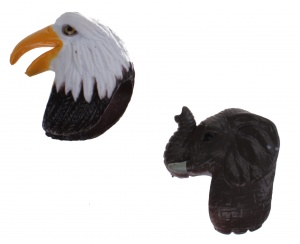 Tender Toys finger puppets eagle and elephant 3,5 cm
