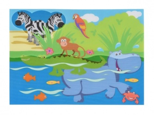 Free and Easy waterverfset 2-delig dieren 41 x 30 cm