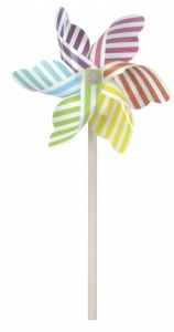 Tender Toys windmolen strepen 47 cm Ø18 cm multicolor