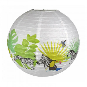 The Zoo lampion Tropical junior 45 cm papier wit/groen