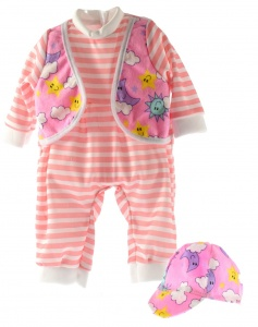 Toi-Toys babypuppe Kleidung Strampler rosa 20-30 cm