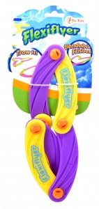 Toi-Toys bendable frisbee 17 cm purple/yellow