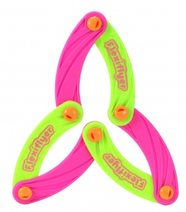 Toi-Toys bendable frisbee 17 cm pink/green